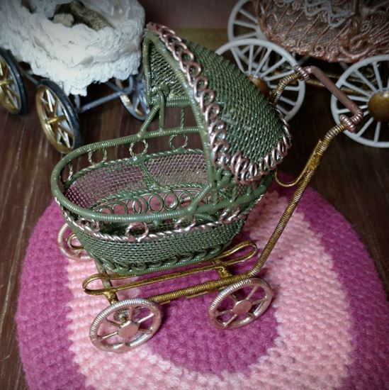 Picture of Dollhouse Baby Stroller Green