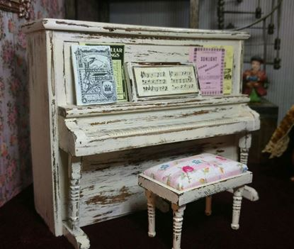 Picture of SOLD   Dollhouse Concord Piano and Bench