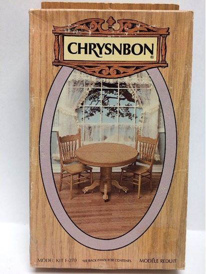 Picture of Chrysnbon Table and Chairs Kit w/table leaves F-270 No Box