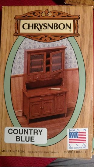 Picture of Chrysnbon Kitchen Cabinet F-280 Country Blue