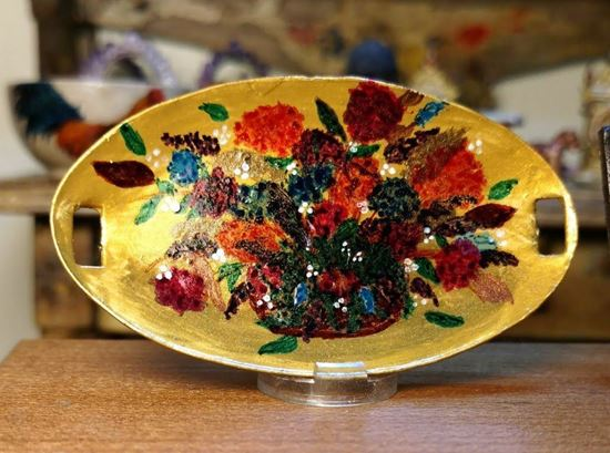 Picture of Dollhouse hand painted platter or tray