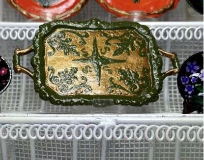 Picture of Dollhouse hand painted platter