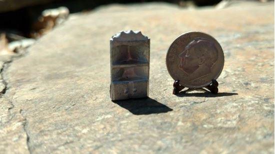 Picture of Dollhouse Metal Miniature Corner Cabinet