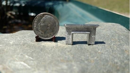 Picture of Dollhouse Metal Miniature Fireplace