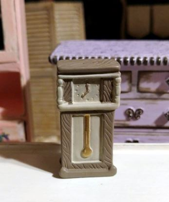 Picture of Dollhouse Miniature Resin Grandfather Clock 1:48 Scale