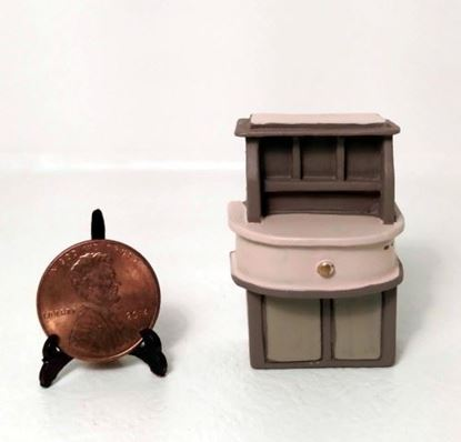 Picture of Dollhouse Miniature Resin Desk 1:48 Scale