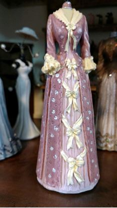 Picture of Dollhouse Miniature Victorian Dress Form  in Pale Pink or Lavender