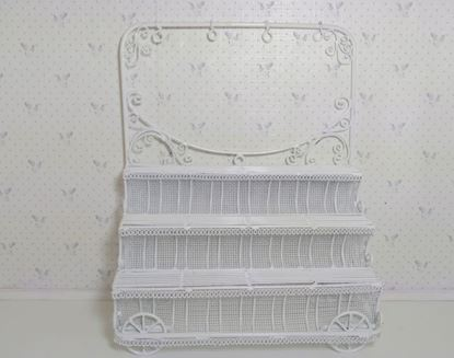 Picture of Dollhouse or diorama wire wicker plant stand
