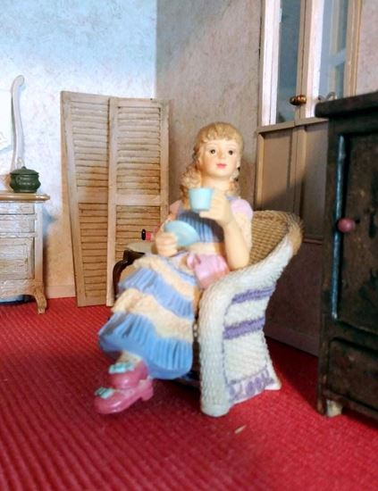 Picture of Dollhouse Resin Girl In Chair