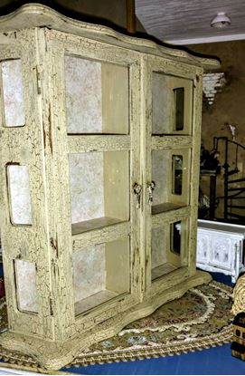 Picture of Vintage curio cabinet for miniatures