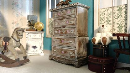 Picture of SOLD   Dollhouse Aged Dresser