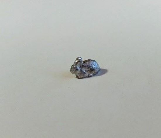 Picture of Dollhouse Metal Miniature Bunny Unpainted
