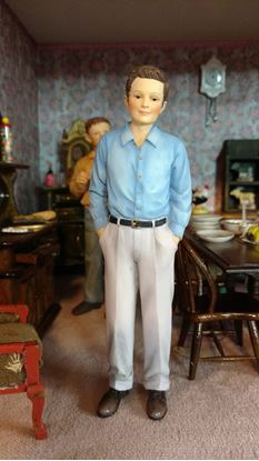 Picture of Modern Dollhouse Resin Man w/Hands in Pockets