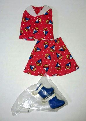 Picture of Miniature Skirt, Top, and Boots for Dollhouse