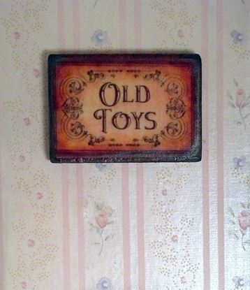 Picture of Old Toys Plaque For Dollhouse