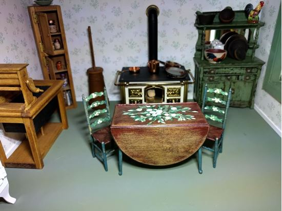 Picture of Chrysnbon Table and Chairs Hand Painted