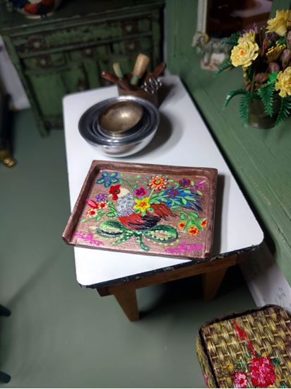 Picture of Dollhouse hand painted tray