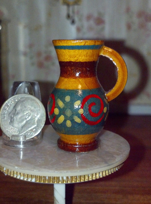 Picture of Miniature Hand Carved Wooden Jug