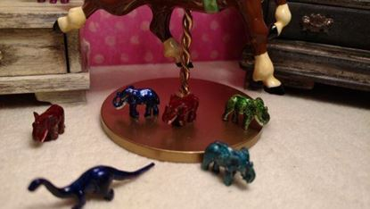 Picture of Miniature Metal Elephant Blue