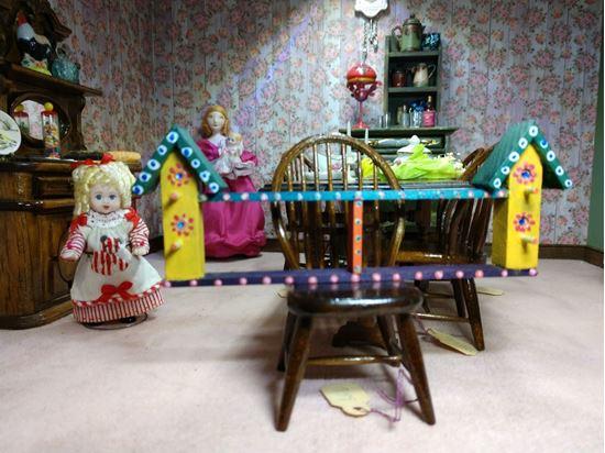 Picture of Dollhouse Birdhouse Shelf