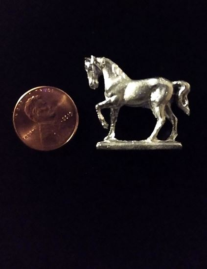Picture of Dollhouse Old Pewter Horse Raw