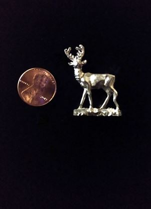 Picture of Dollhouse Old Pewter Deer Raw