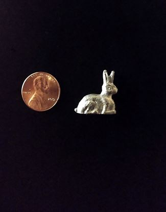 Picture of Miniature Pewter Bunny Rabbit