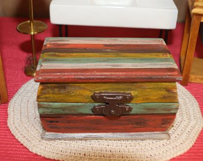 Picture of Miniature Trunk For Dollhouse