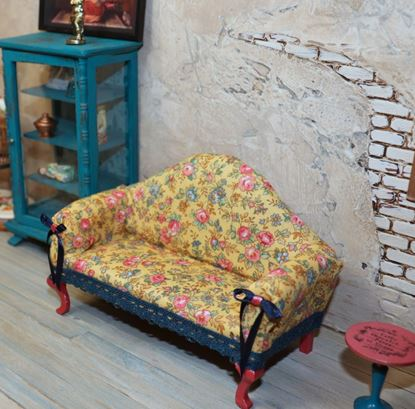 Picture of Dollhouse Fabric Covered Sofa