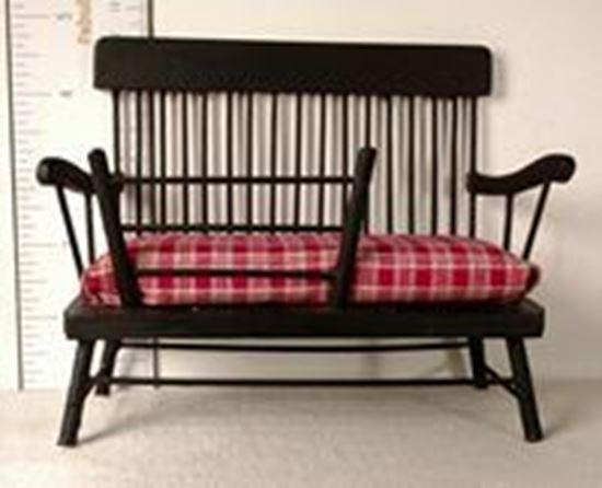 Picture of Vintage Dollhouse Black Cradle Bench
