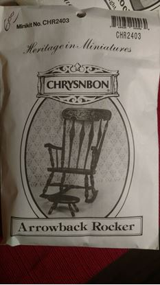 Picture of Chrysnbon Arrowback Rocker Kit CHR-2403 Brown