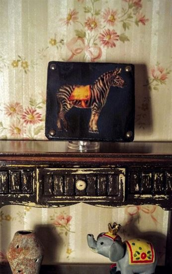 Picture of Circus Zebra Sign Dollhouse Miniature