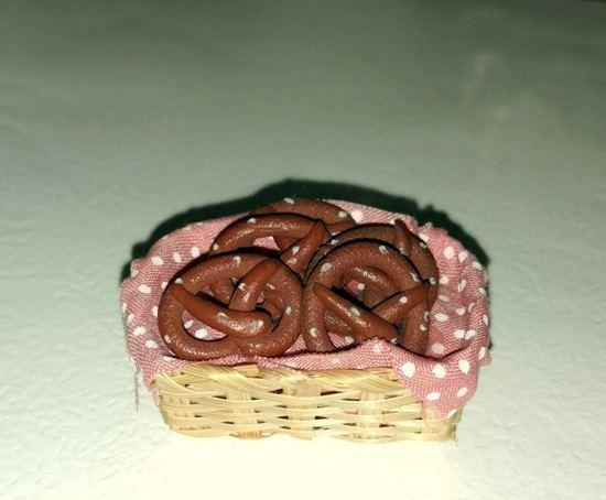 Picture of Dollhouse Basket of Pretzels