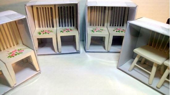 Picture of Dollhouse Chairs set of 8 Dollar Tree