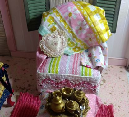Picture of Dollhouse Fabric Covered Chair