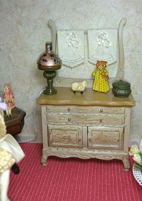 Picture of Dollhouse French Commode Cabinet