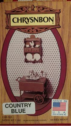 Picture of Chrysnbon Tea Cart and Wall Shelf Kit F-160 Wood Grain