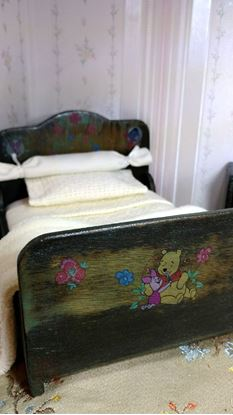 Picture of Winnie the Pooh Dollhouse Double Bed & Night Stand