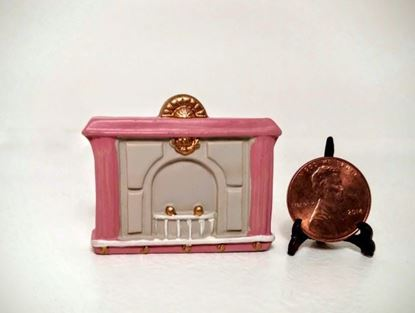 Picture of Dollhouse Miniature Resin fireplace 1:48 Scale