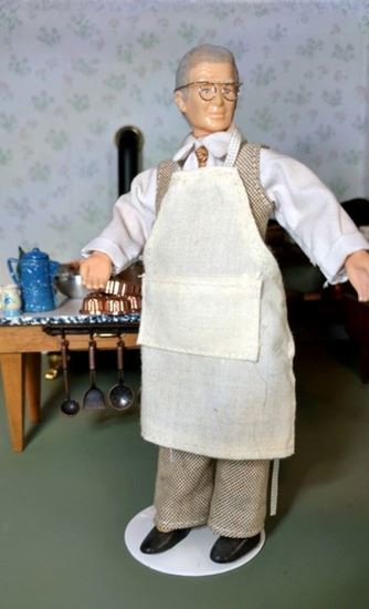 Picture of Dollhouse Miniature Shopkeeper Doll