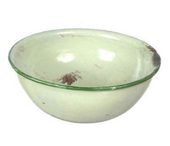 Picture of Dollhouse Miniature Enamel Mixing Bowl