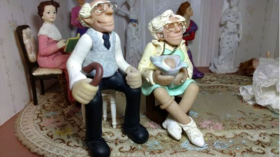 Picture of Dollhouse Grandma & Grandpa by J. Manning