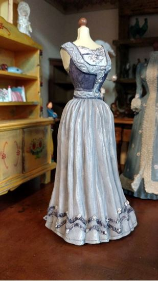 Picture of Dollhouse Miniature Victorian Blue Dress Form
