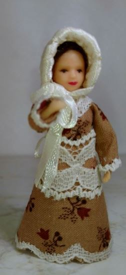 "Picture of Tiny 2.5"" doll for 1:24 scale"