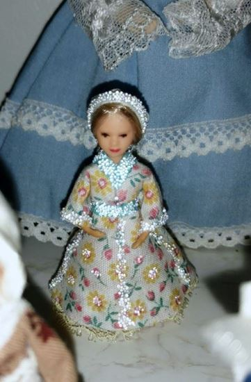 """Picture of Tiny 2.5"""" doll for 1:24 scale Item"""