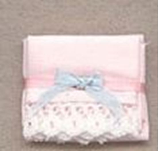 Picture of Miniature Linen Closet Sheet Set with Bow 1:24