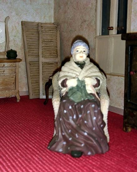 Picture of Dollhouse Resin Grandmother Sitting
