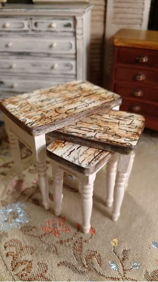 Picture of Dollhouse Tables, Hand painted
