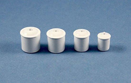 Picture of Dollhouse White Metal Blank Canisters