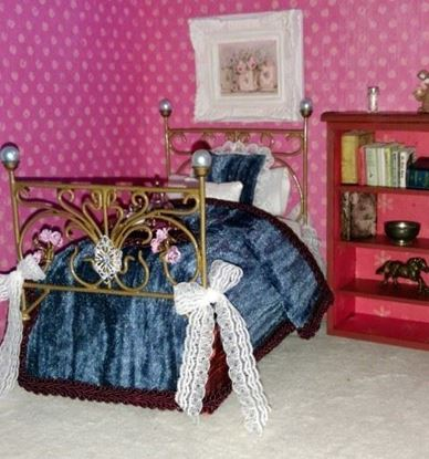 Picture of Handmade Dollhouse Single Metal Bed